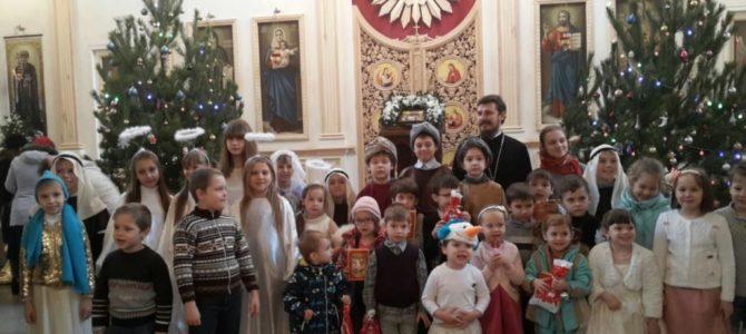 В храме прошел детский утренник, посвященный празднованию светлого праздника Рождества Христова
