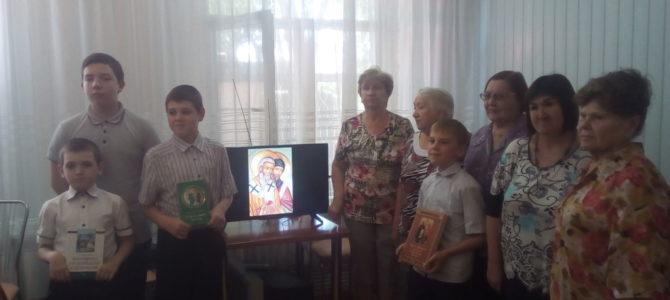 Представители прихода совместно с библиотекой им. А.И. Куприна провели мероприятие, посвященное славянской письменности и культуре