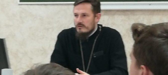 Состоялась встреча настоятеля нашего храма со студентами 1 курса Ростовского государственного университета путей сообщения