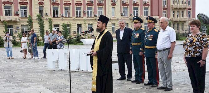 Настоятель Иоанно-Кронштадтского храма принял участие  в торжественной церемонии вручения дипломов выпускникам Военного учебного центра РГУПС