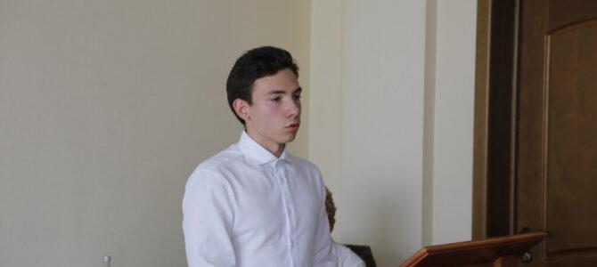 Воспитанник приходского подросткового объединения «Иоанновцы» зачислен на 1 курс Донской духовной семинарии